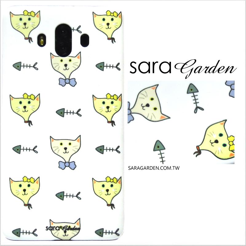 【Sara Garden】客製化 手機殼 SONY XZP XZ Premium 插畫貓咪魚骨頭 手工 保護殼 硬殼