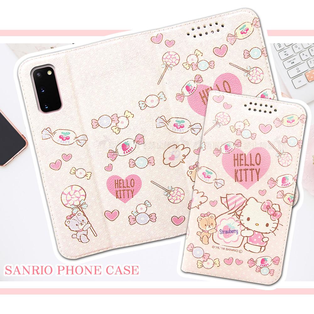 三麗鷗授權 Hello Kitty貓 三星 Samsung Galaxy S20 粉嫩系列彩繪磁力皮套(軟糖)