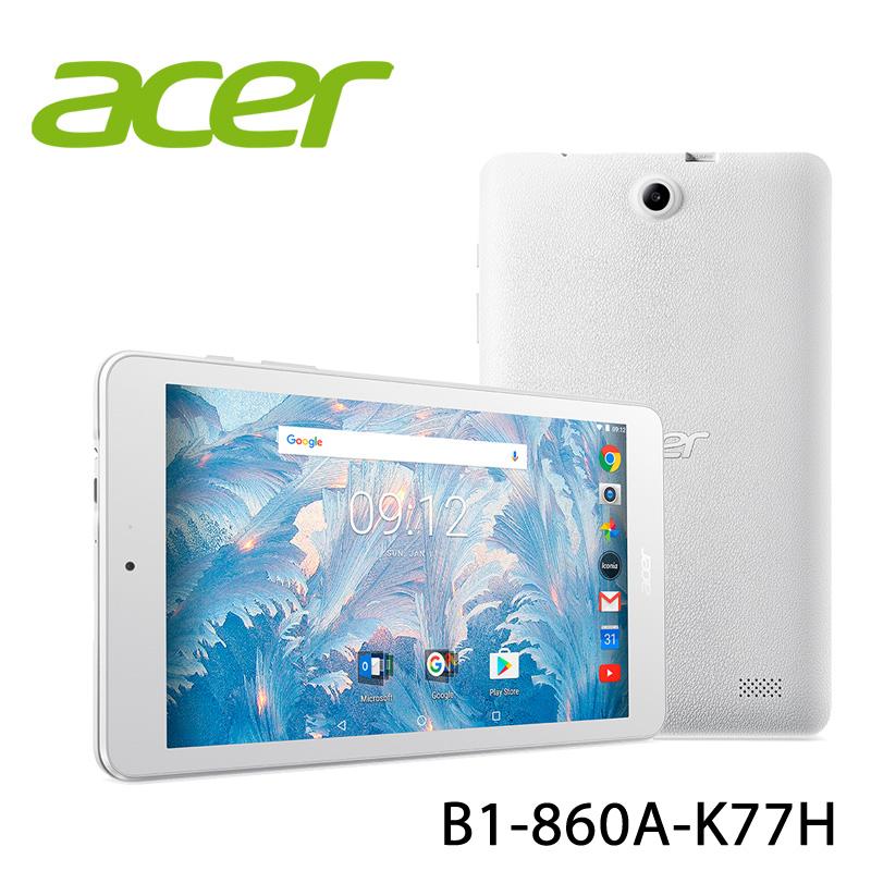 【ACER宏碁】 B1-860A-K77H 8吋 2G/16G 白 平板電腦-送保貼+平板立架+防震內袋+觸控筆