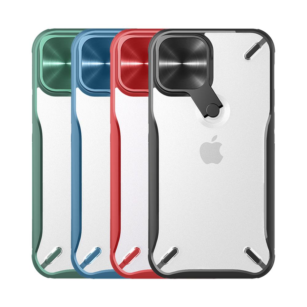 NILLKIN Apple iPhone 12 Pro Max 炫鏡支架保護殼(藍色)