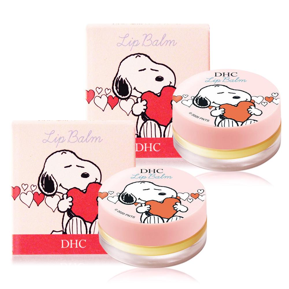 DHC 純橄欖護唇膏 史努比聯名限定版(7.5g)X2-圓罐粉色