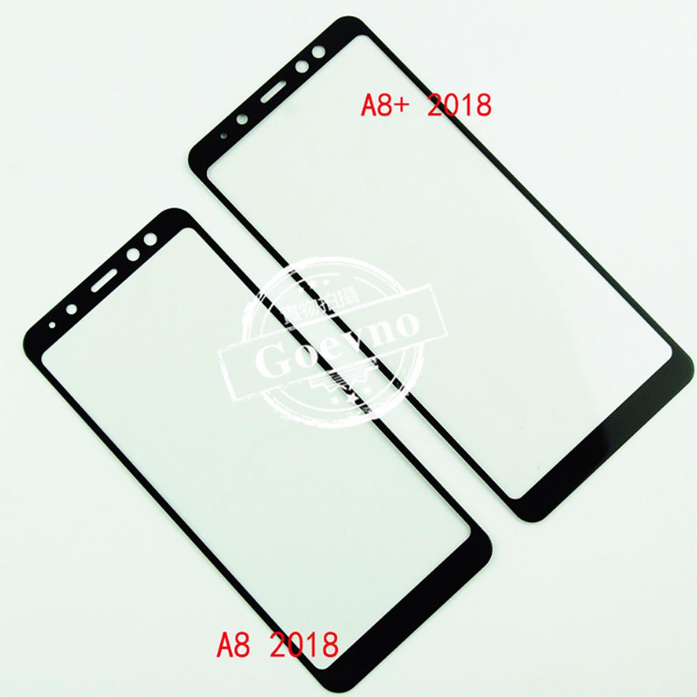 Goevno SAMSUNG Galaxy A8(2018) 滿版玻璃貼(黑色)