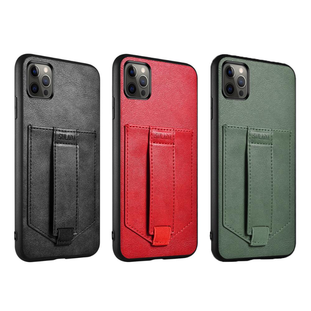 SULADA Apple iPhone 12/12Pro 卡酷保護套(紅色)