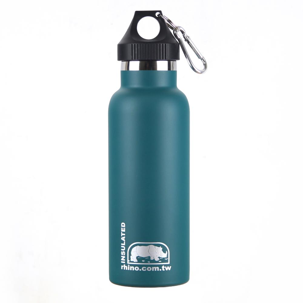 犀牛RHINO Vacuum Bottle雙層不銹鋼保溫水壺500ml-清綠