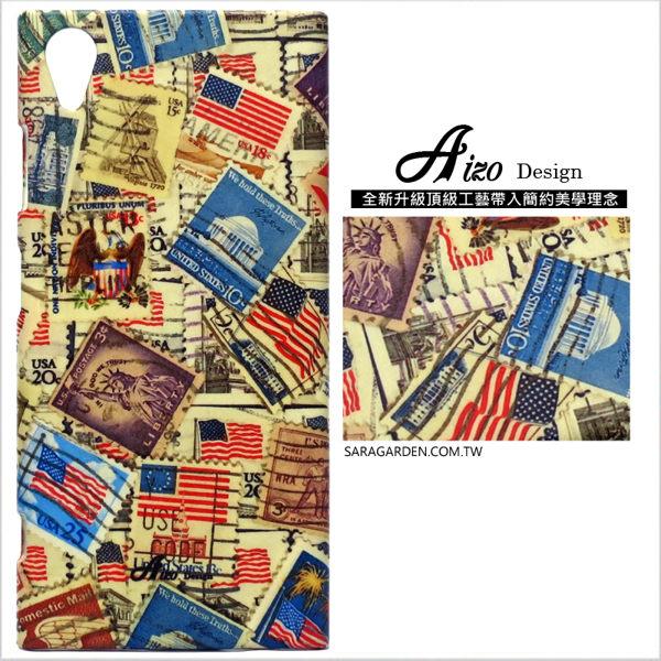 【AIZO】客製化 手機殼 SONY XZP XZ Premium 保護殼 硬殼 復古美國郵票