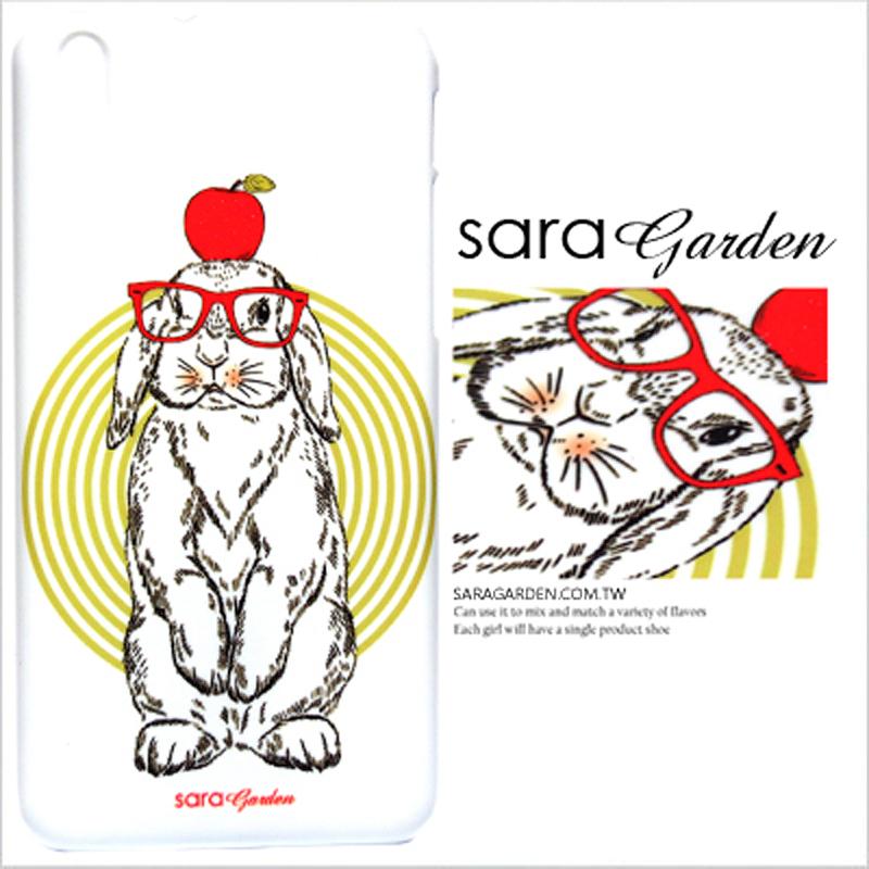 【Sara Garden】客製化 手機殼 HTC A9 手繪 紅心 蘋果 兔兔 手工 保護殼 硬殼 限定