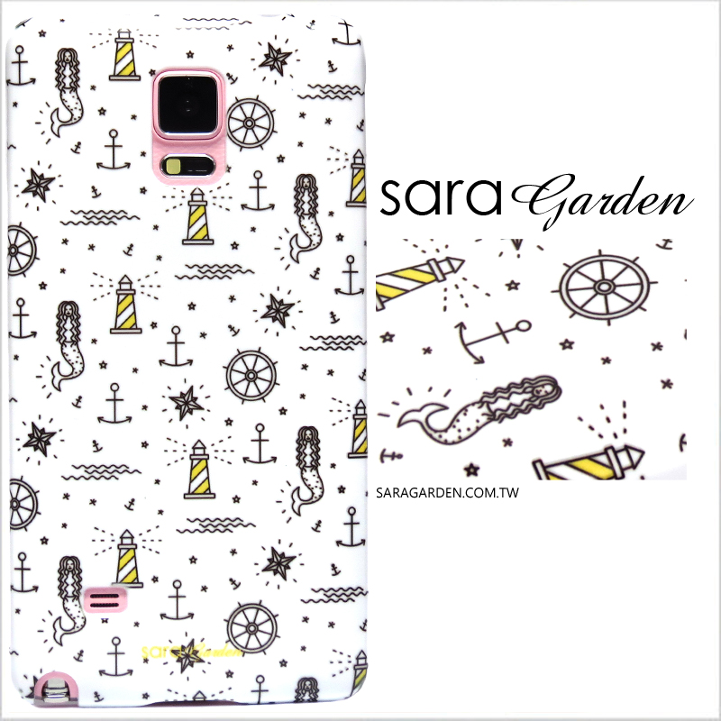 【Sara Garden】客製化 手機殼 Samsung 三星 J7Plus j7+ 插畫 船舵 海星 美人魚 保護殼 硬殼