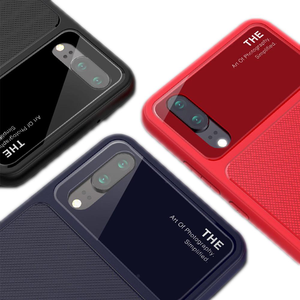 QinD HUAWEI P20 爵士玻璃手機殼(藍色)