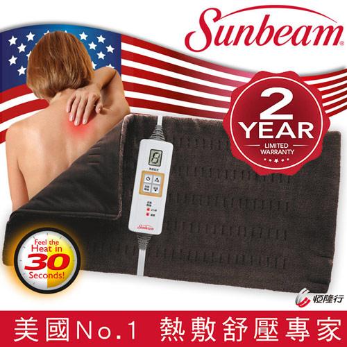 美國Sunbeam 瞬熱保暖墊 (核桃色)