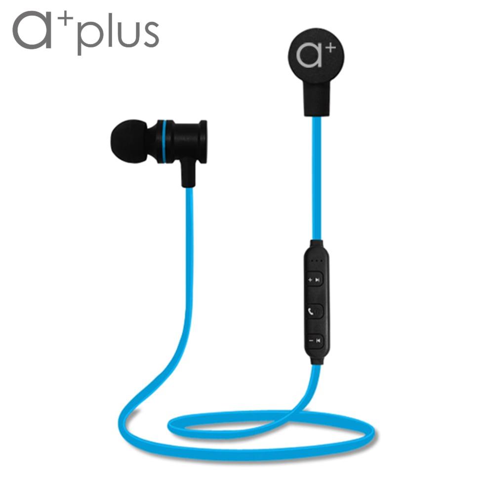 a+plus 磁吸式運動防水藍芽耳機 ABT-302 - 冰河藍