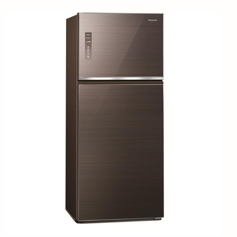 Panasonic 422L無邊框玻璃變頻雙門電冰箱 曜石棕 NR-B421TG-T【贈基本安裝】
