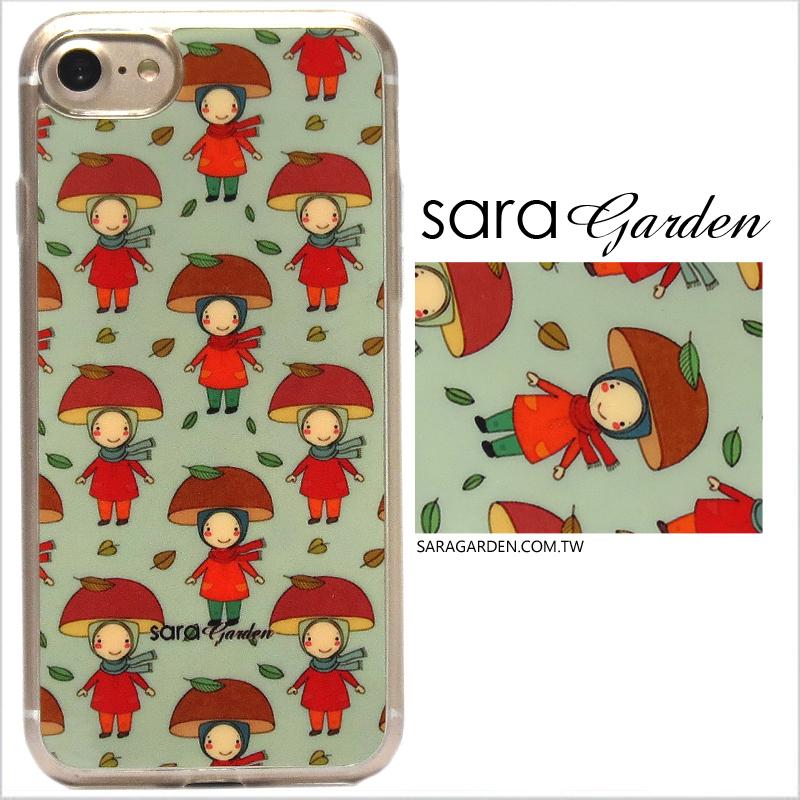 【Sara Garden】客製化 軟殼 蘋果 iPhone6 iphone6s i6 i6s 手機殼 保護套 全包邊 掛繩孔 手繪童話女孩
