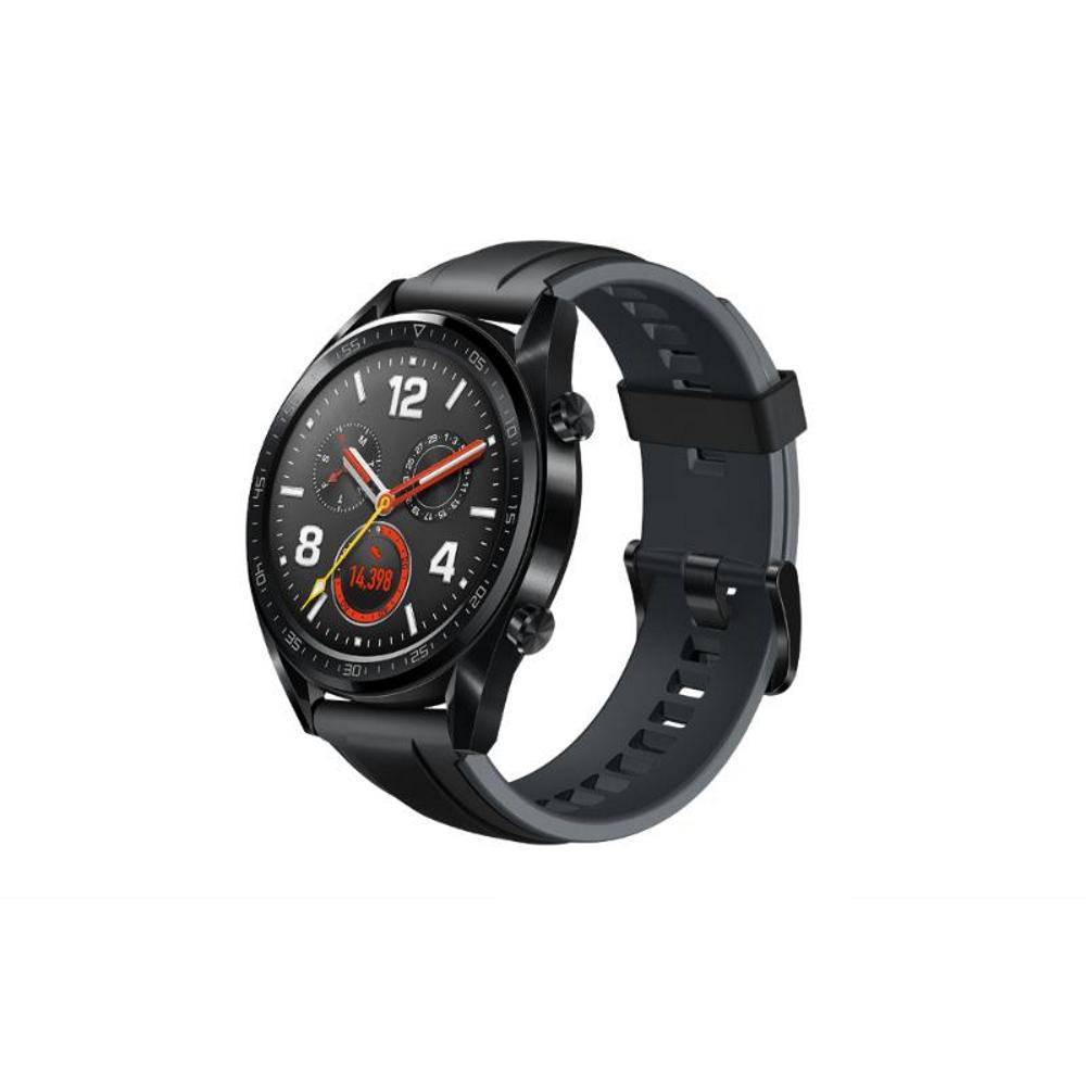 藍芽手錶 Huawei Watch GT黑色(曜石黑矽膠錶帶) 加送運動款不倒杯