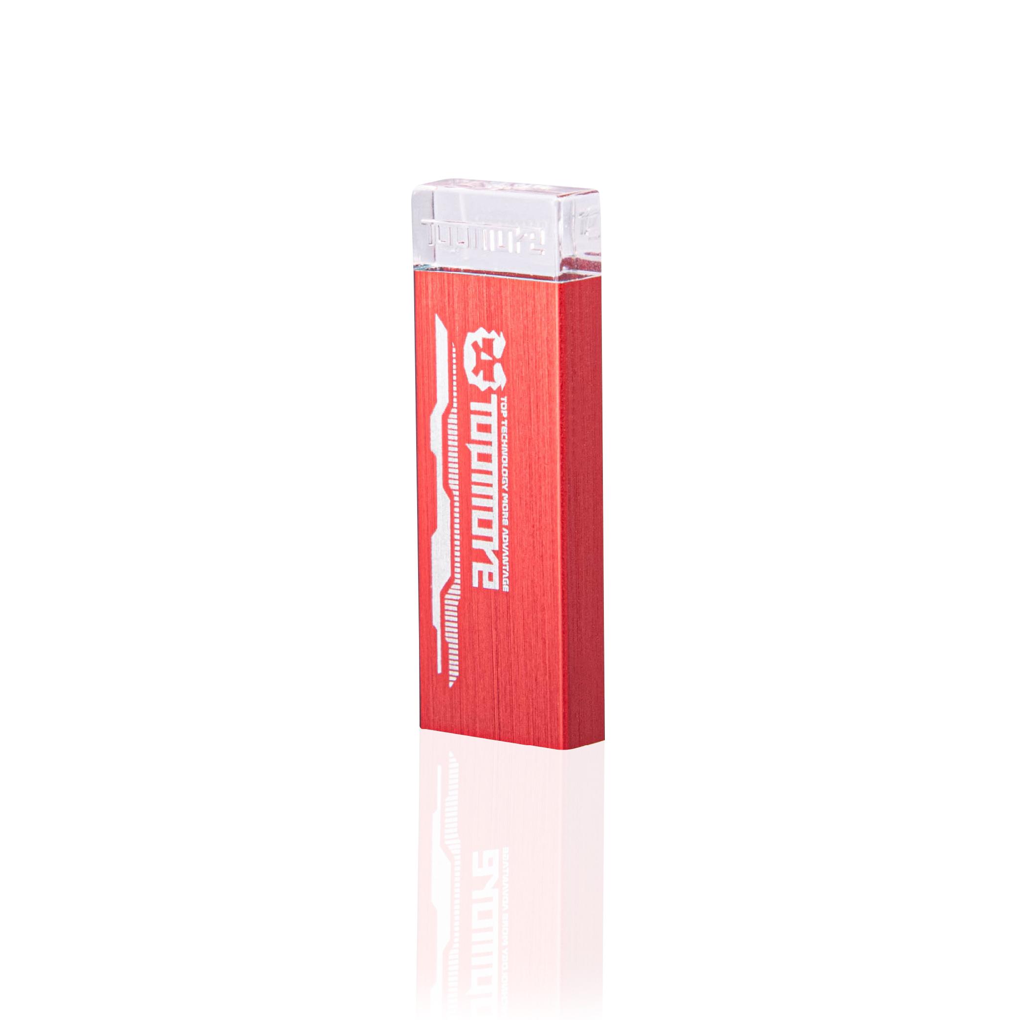 Topmore 達墨系列AI發光隨身碟 USB3.0 64GB-紅色