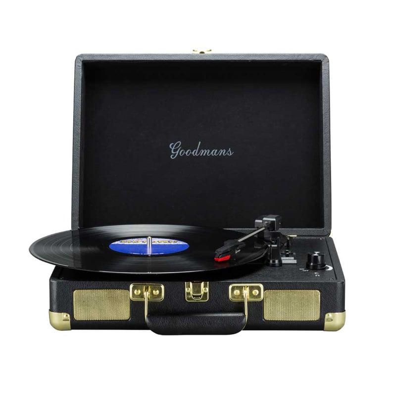 Goodmans Ealing Turntable 英國手提箱黑膠唱片機-黑色