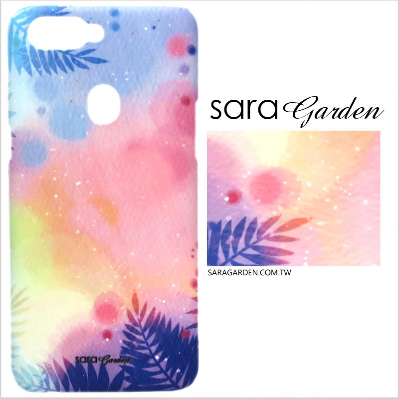 【Sara Garden】客製化 手機殼 Samsung 三星 A8Plus A8+ 2018 漸層渲染葉子 手工 保護殼 硬殼