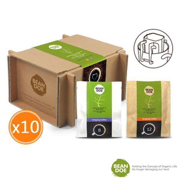 《繽豆》濾掛咖啡(淺焙+中焙)(10入/盒,共兩盒)