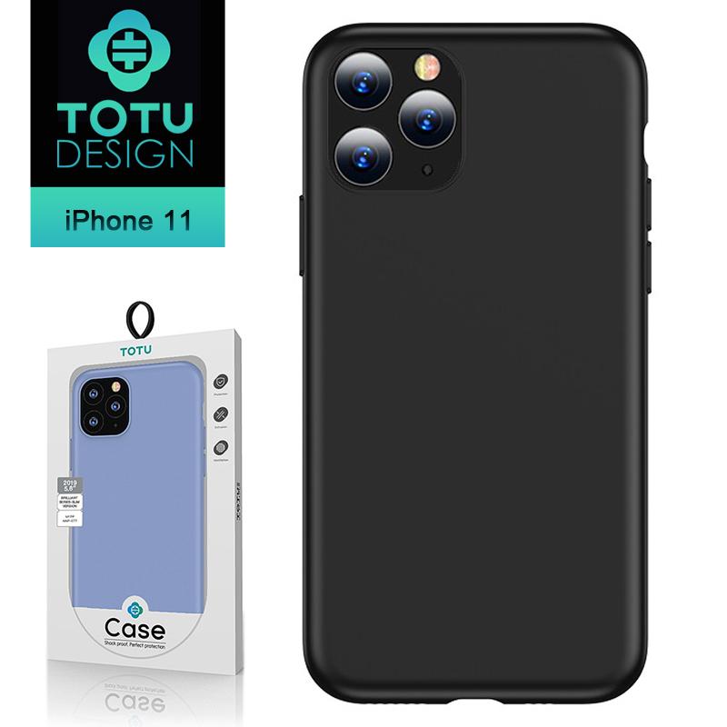 【TOTU台灣官方】iPhone11手機殼防摔殼耐髒汙 i11 (6.1) 出彩超薄系列 黑色