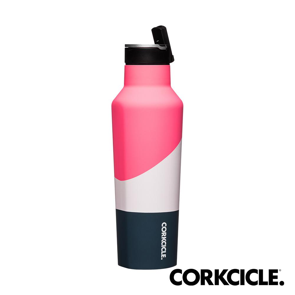 美國CORKCICLE Color Block系列三層真空運動易口瓶/保溫瓶600ml-風暴粉