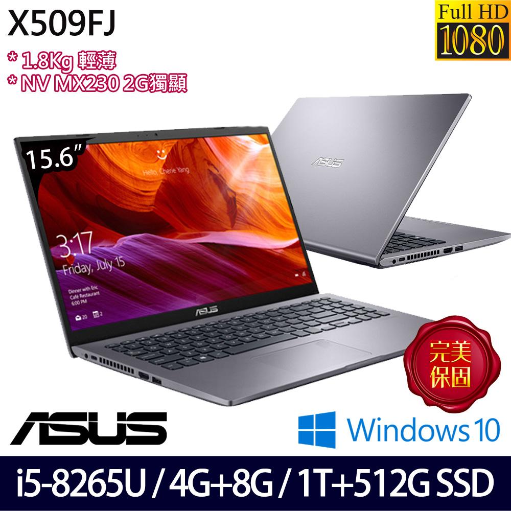 【全面升級】《ASUS 華碩》X509FJ-0111G8265U(15.6吋FHD/i5-8265U/4G+8G/1T+512G SSD/MX230)