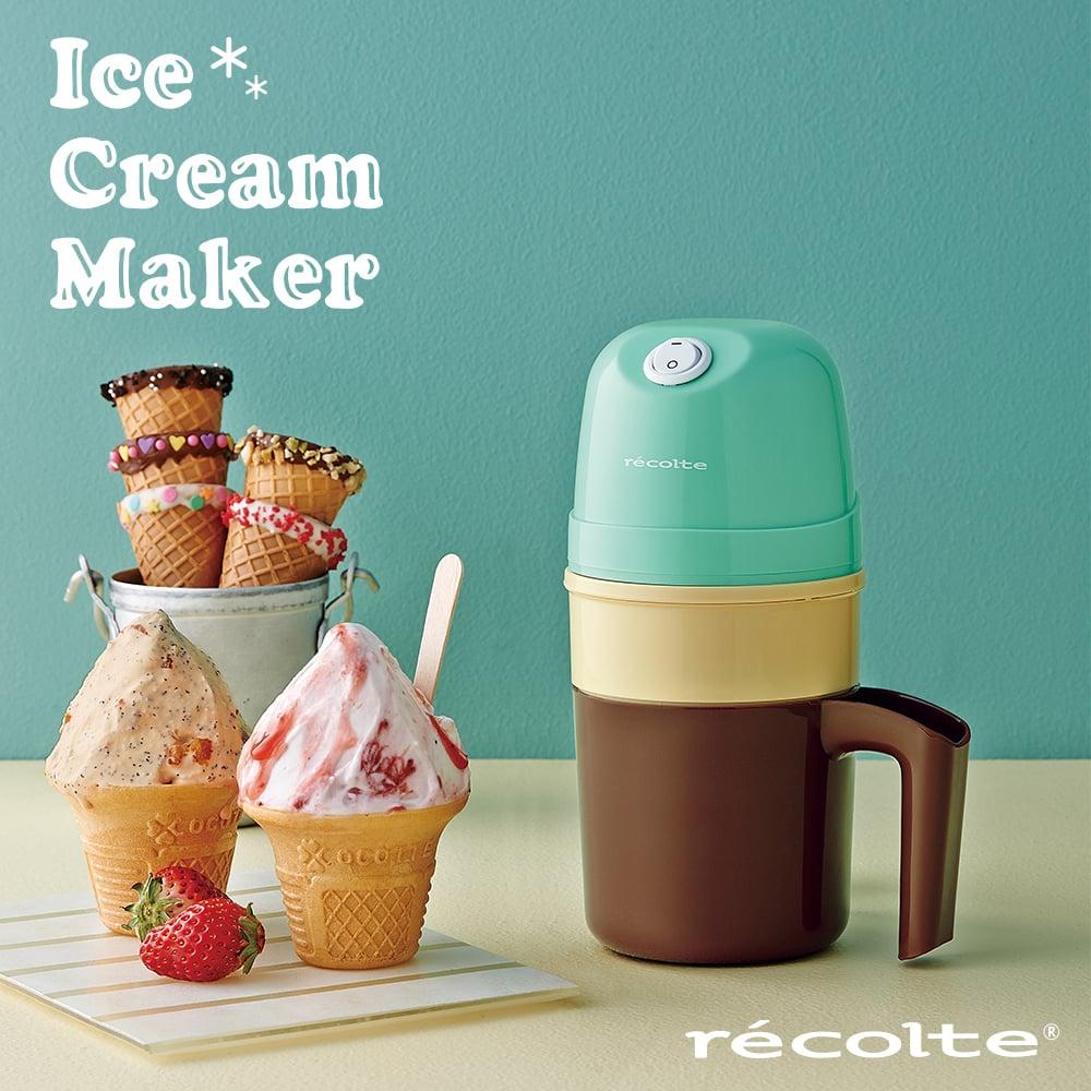 recolte 日本麗克特|Ice Cream 迷你冰淇淋機RIM(G)