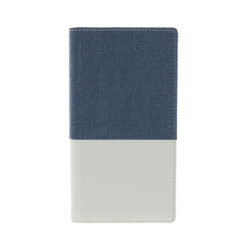 Leplus Sony XZP「WINDE」耐衝擊側掀皮套(靛藍白)