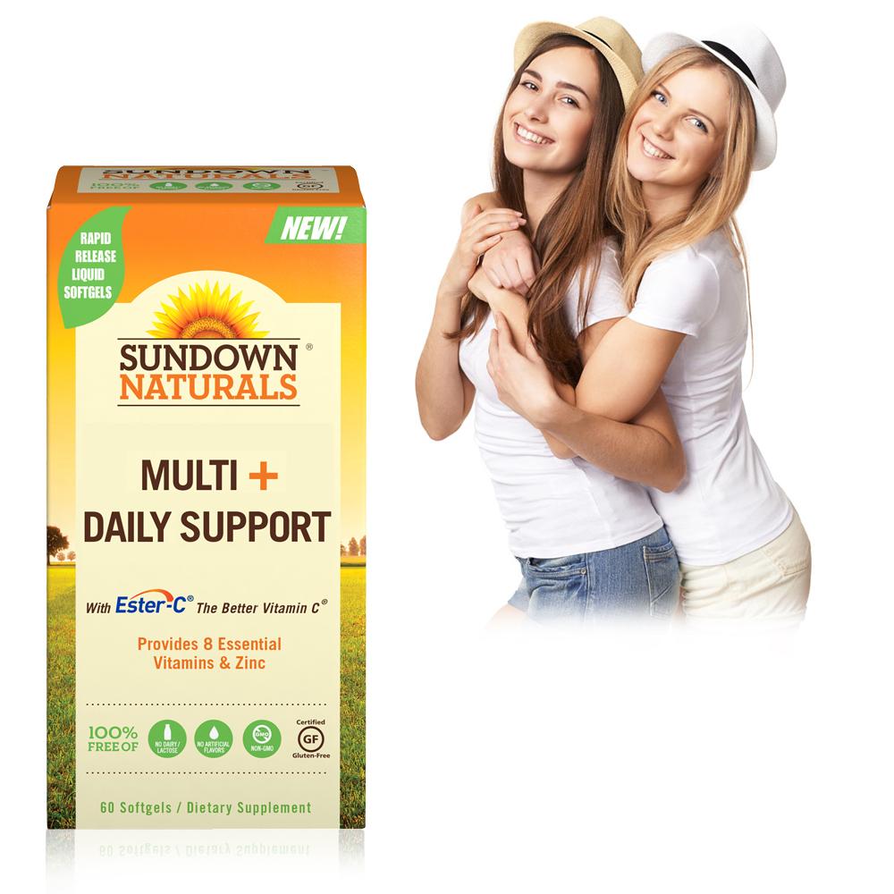 【超值優惠】Sundown日落恩賜 酯化C+活力維生素植萃軟膠囊(60粒/瓶)