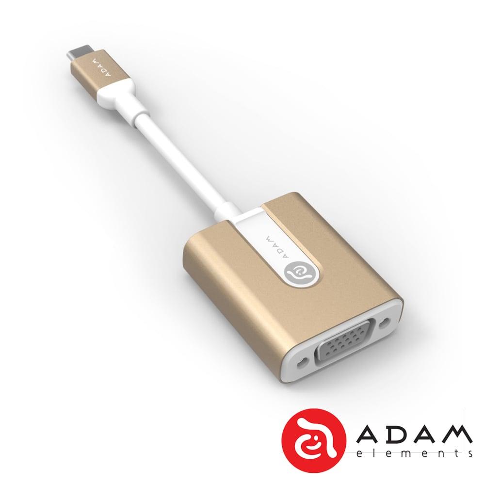 【亞果元素】CASA V01 USB Type-C對 VGA 轉接器- 金