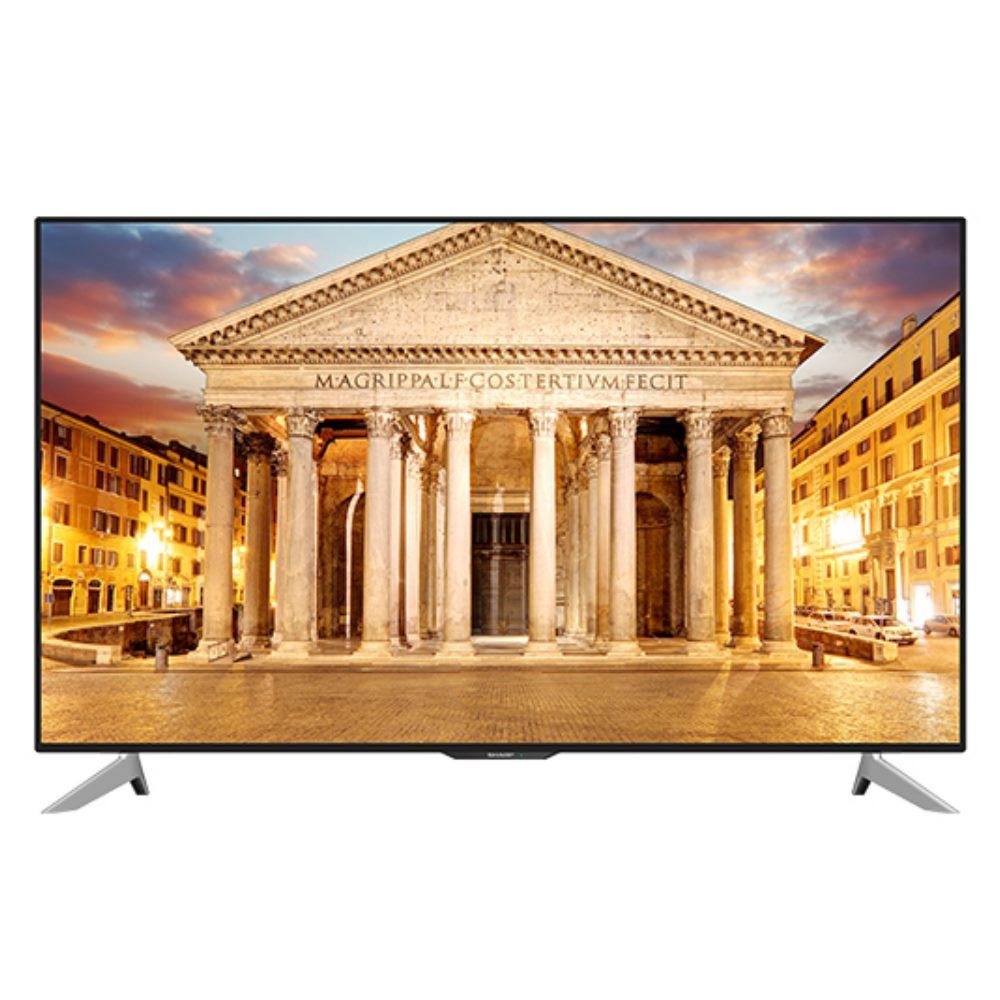 ★含標準安裝SHARP夏普50吋4K聯網液晶顯示器+視訊盒LC-50UA6500T