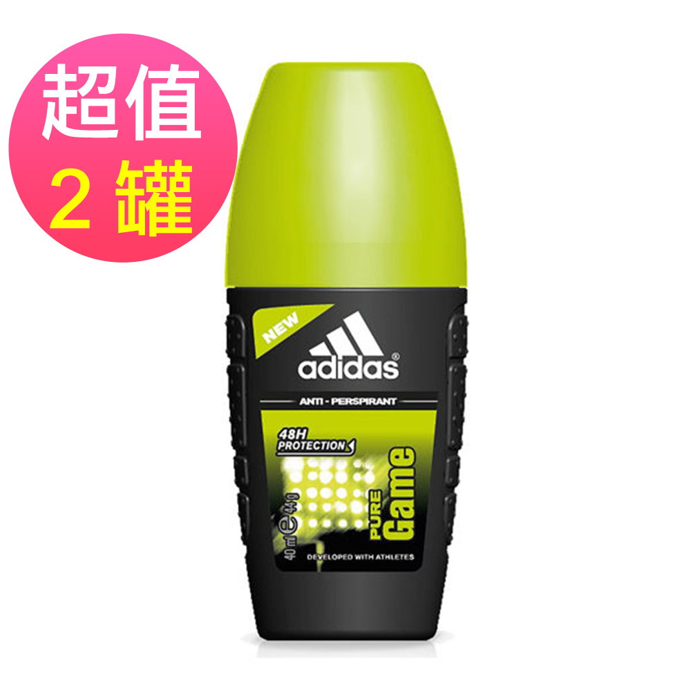 adidas愛迪達 男用制汗香體滾珠(極限挑戰)x2罐(40ml/罐)