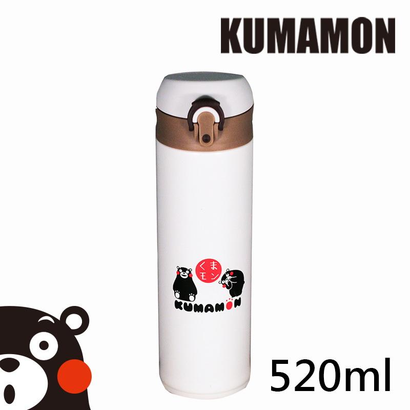 【KUMAMON酷Ma萌】超輕量彈蓋保溫瓶520ml