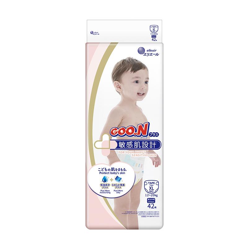 【日本大王GOO.N】境內版敏感肌黏貼型紙尿布XL號42片*4串