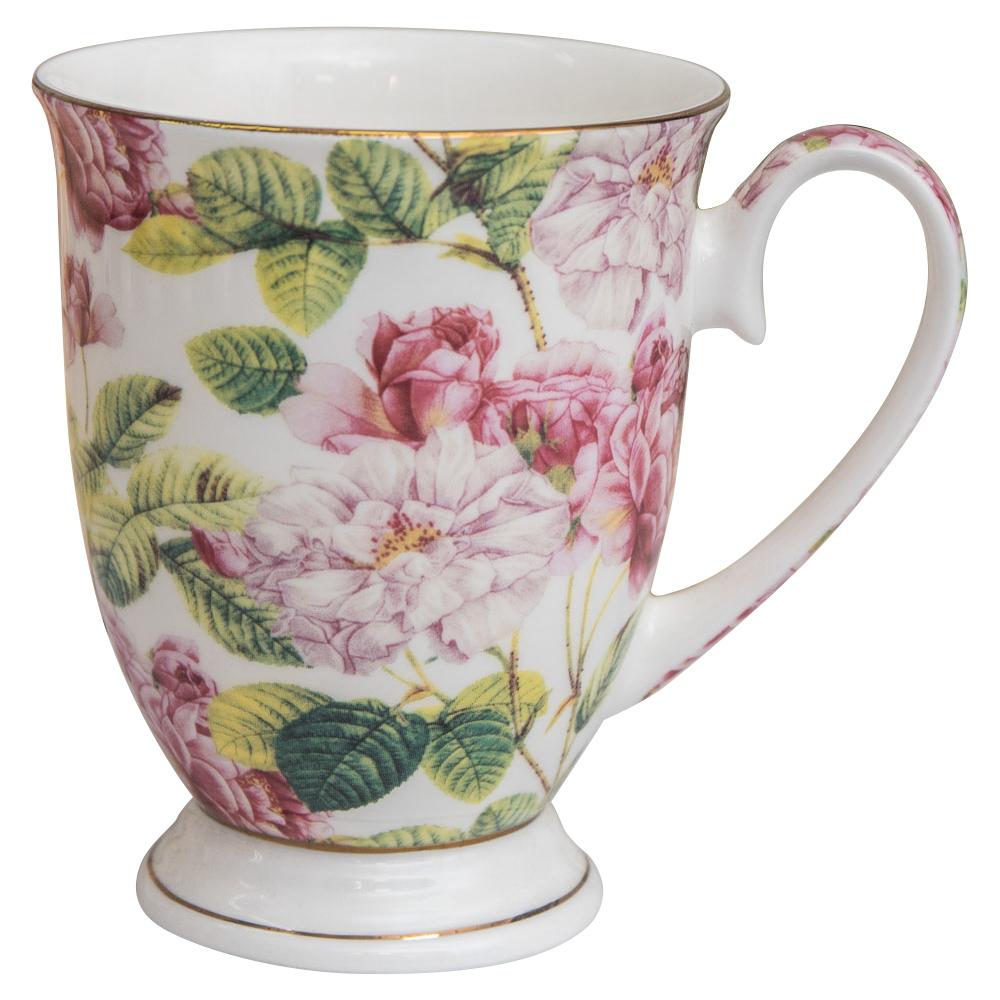 【Beatrice碧翠絲】歐式典雅骨瓷馬克杯-粉色山茶花