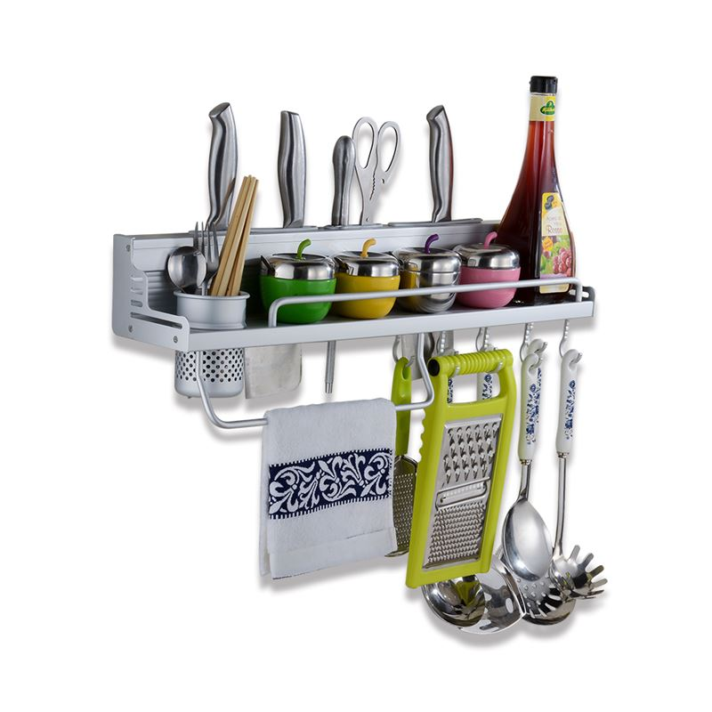 【新一代】無痕多功能廚房太空鋁收納/置物架(廚房收納必備)