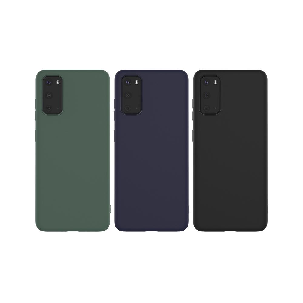 Imak SAMSUNG Galaxy S20 磨砂軟套(藍色)