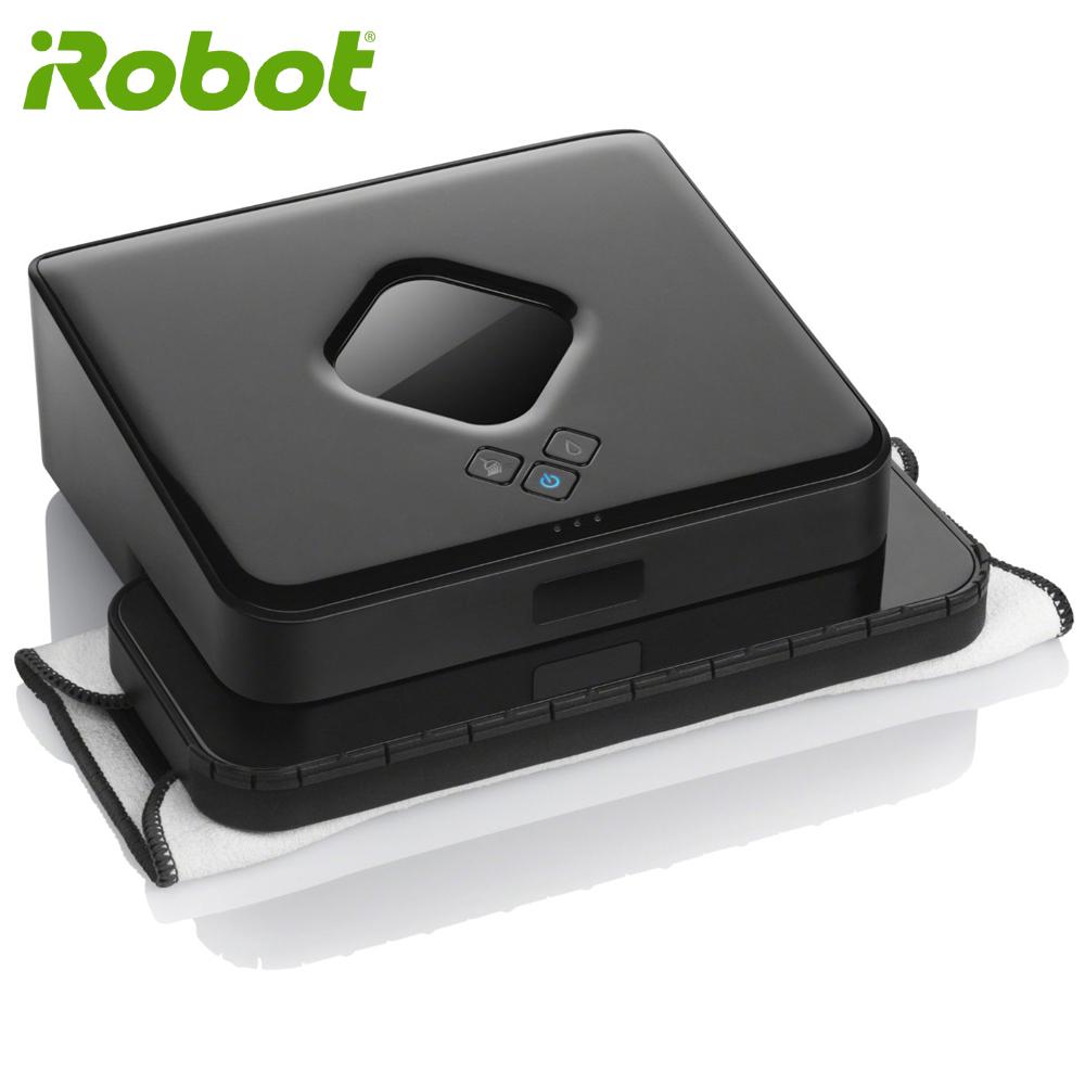 【買就送原廠抹布】美國iRobot Braava 380t 無噪音乾濕兩用機器人擦地機 保固15個月