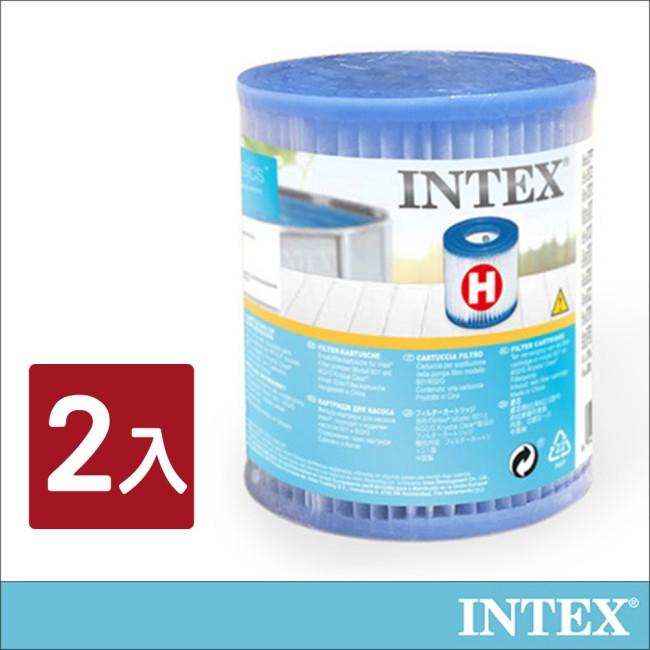 【INTEX】游泳池配件-簡易濾水器濾心桶(2入組)(29007E)