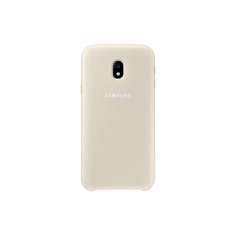 SAMSUNG J3 Pro薄型透明背蓋-PC及TPU 金色