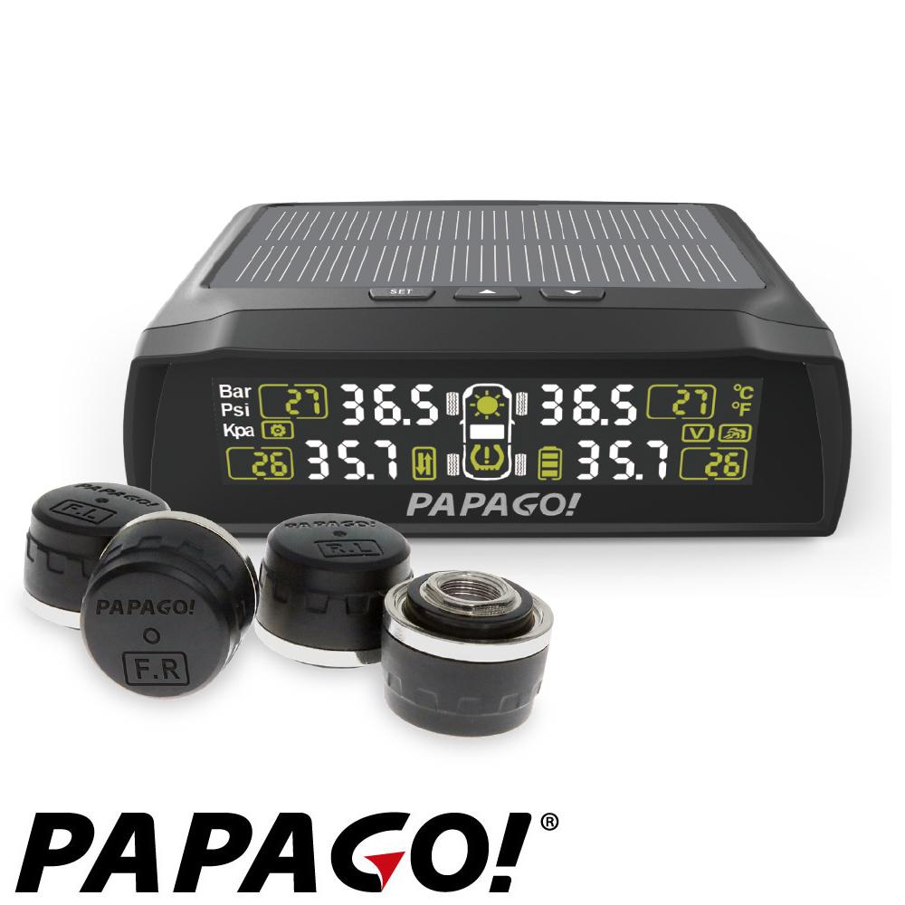 PAPAGO ! TireSafe S72E無線太陽能胎外式輕巧胎壓偵測器+擦拭布+手機矽膠立架+立架貼(兩年保固)