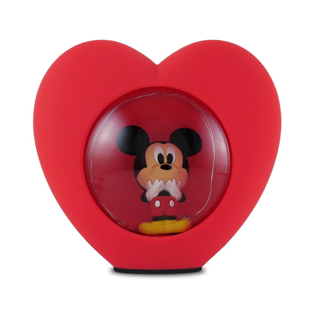 Disney迪士尼LED USB心型小夜燈_米奇
