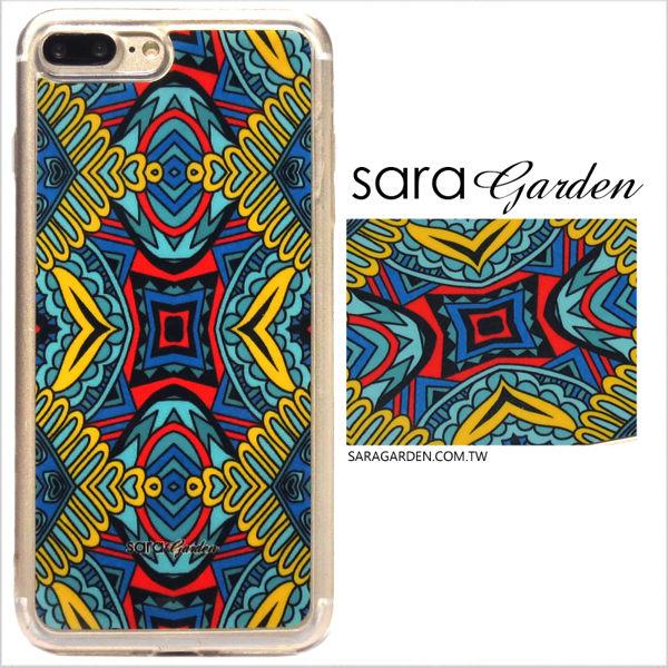【Sara Garden】客製化 軟殼 蘋果 iPhone7 iphone8 i7 i8 4.7吋 手機殼 保護套 全包邊 掛繩孔 潮流圖騰