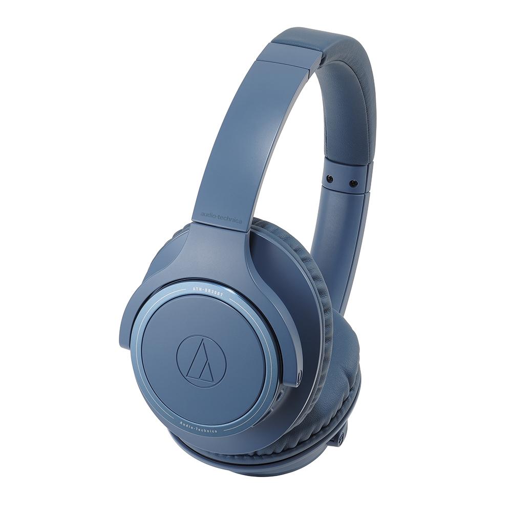 鐵三角 ATH-SR30BT 藍色 無線藍牙 耳罩式耳機
