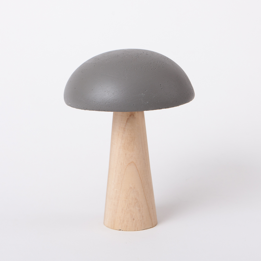 蘑菇森林擺飾-深灰(大)-生活工場