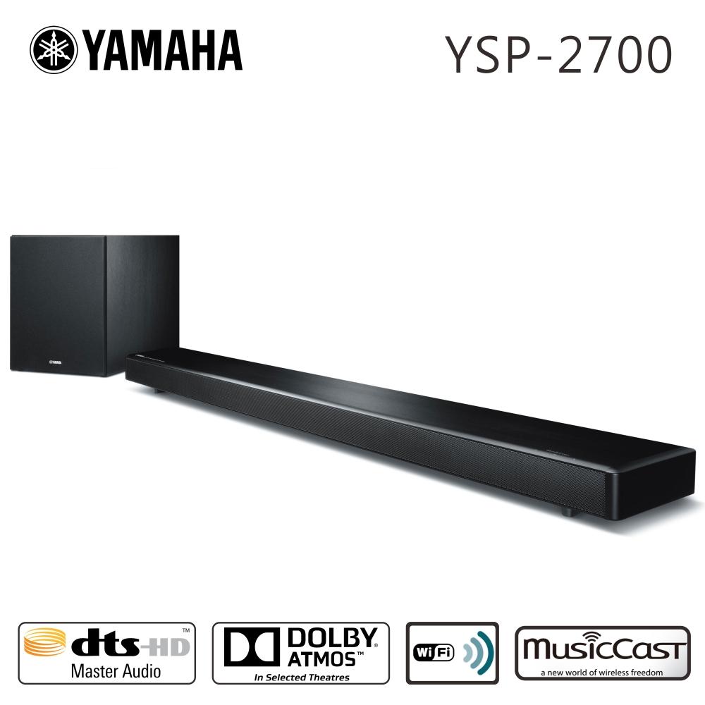 YAMAHA山葉 7.1聲道無線藍牙家庭劇院聲霸(YSP-2700)*送HDMI線
