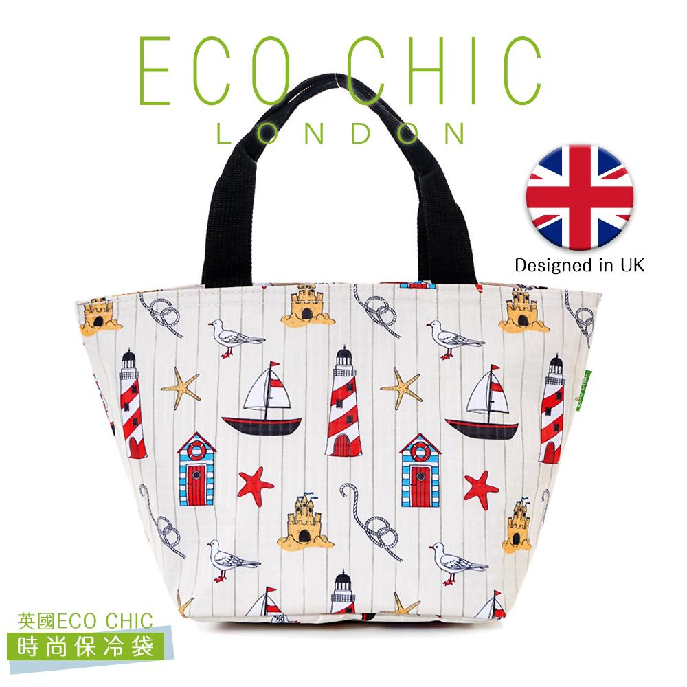 英國ECO CHIC時尚保冷/保溫/保鮮袋(海洋白)X2