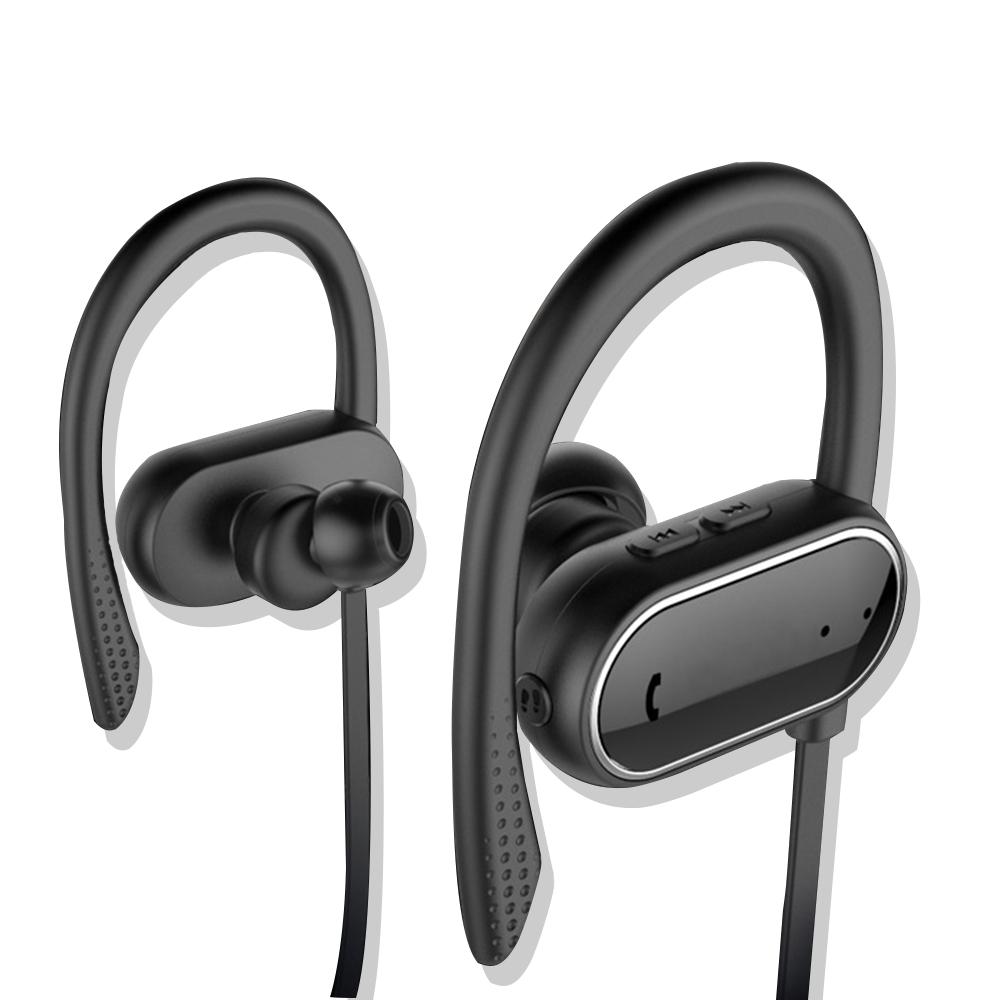 【SOYES】智能計步IPX4防汗防水運動藍牙耳機BT6(公司貨)-黑色