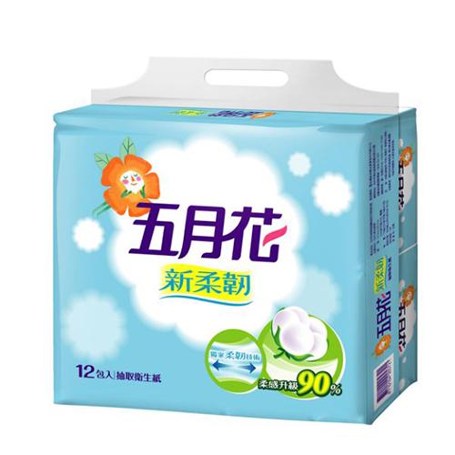【五月花】新柔韌抽取式衛生紙110抽x12包x6袋/箱