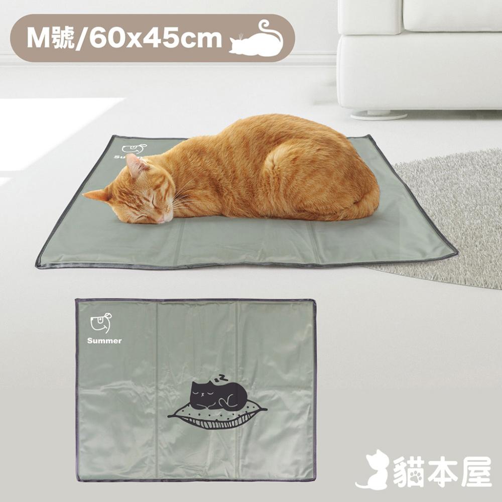貓本屋 冰晶軟凝膠 寵物降溫墊(M號/60x45cm)-睡覺貓