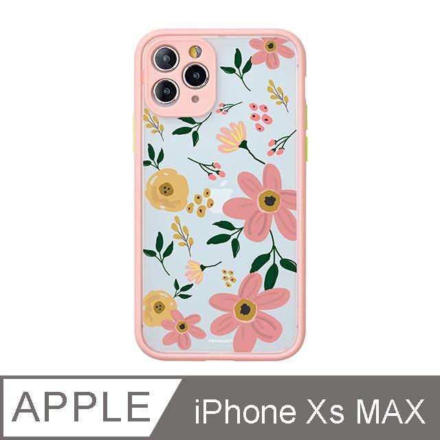 iPhone Xs Max 6.5吋 Fleur浪漫花語霧面防摔iPhone手機殼 綿綿粉