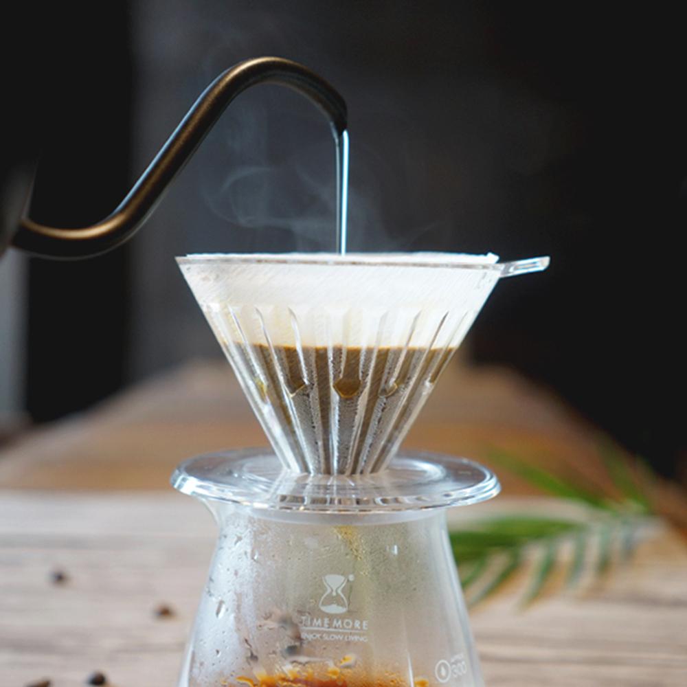TIMEMORE泰摩冰瞳手沖咖啡套裝組 (玻璃分享壺360ml+PC濾杯01號1~2人份)